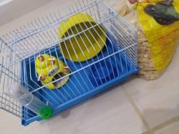 Vendo gaiola para Hamster e utensílios