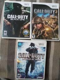 Lote Wii Jogos Série Call of Duty Americanos