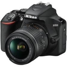 Câmera Digital Nikon D3500 DSLR +18-55mm + lente 50mm +parasol+ cartão de memória+mochila
