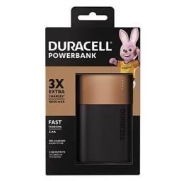 Carregador Portátil PowerBank p/Smartphone 10.050mAh com Carga Rápida - Duracell CX 1 UN<br><br>