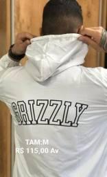 Jaqueta Corta Vento Masculina Grizzly Branca