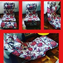 Poltrona chaise estampada