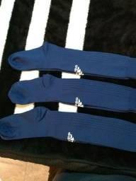 3 pares de meião Adidas original azul marinho