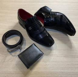 Sapato social+ carteira+ cinto