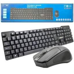 Kit mouse teclado sem fio wirelles
