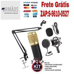 Kit estúdio profissional KTG-7701 com microfone condensador