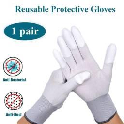 Luvas antiestáticas revestidas - dedo de proteção - cód. 6252