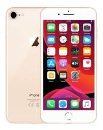 R$1800,00 iPhone 8 64 Gb - Ouro Rose - Perfeito Estado + 5 Cases + Nota Fiscal