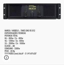 Potencia / Amplificador Times One RS - 612