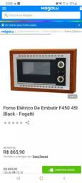 Forno de embutir 45L Fogatti Black