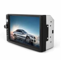 Central Multimídia MP5 LCD Touch Screen C/ Bluetooth e Espelhamento