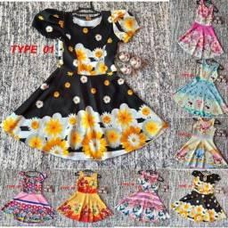 Vestido infantil 8 A 10 anos suplex luxo rodado princesa