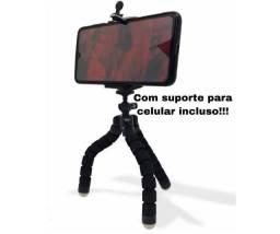 Mini Tripé p/Celular para Fotos Vídeos Aulas Online Filmes Posição Horizontal e Vertical