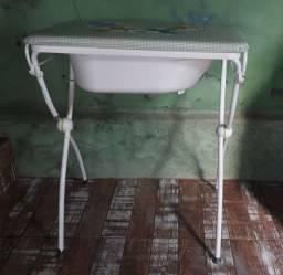 Trocador com banheira
