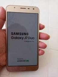 Samsung  J7 Duo na caixa