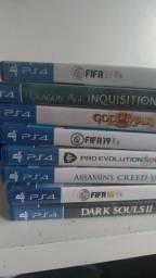 PS4 dois controis + vários jogos