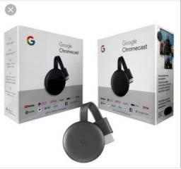 Google Chromecast 3, original, novo com garantia