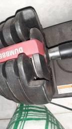 Halter muito top para treino pesa em torno de 35 a 40 kg com todas as anilhas