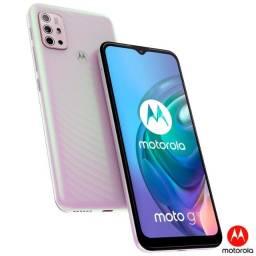 Smartphone Moto G10 Branco Floral, 4g, 64gb e Câmera Quádrupla de 48 2 anos de garantia