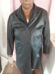 Jaqueta de couro legítimo tam 50