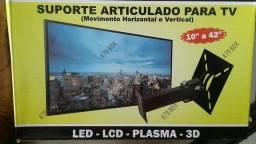 Suporte Tv Articulado +Brinde - Antena digital Hdtv 3m