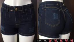 Bermundas jeans femina