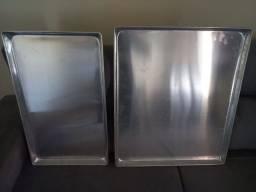 Assadeira aluminio para pão doce e salgados