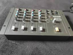 Mesa de som e iluminação LED para DJ