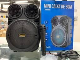 Caixa De Som Bluetooth Amplificada Inova Rad-8625 c/ Microfone Led Usb Sd<br>