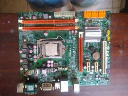 Placa mãe H55H-M opicional:+duas memórias RAM 2gb DDR3+Intel core i3-530+cooler