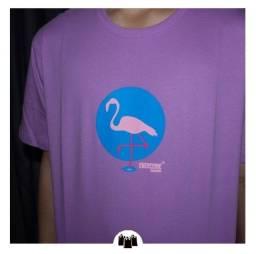 Camiseta overcome flamingo barata