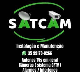 Câmeras,Antenas,Alarmes,Interfones (Instalação e Manutenção)