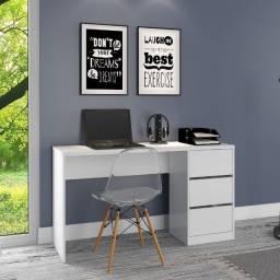 Oferta Mesa de escritório 3 Gavetas Entrega e Montagem Grátis