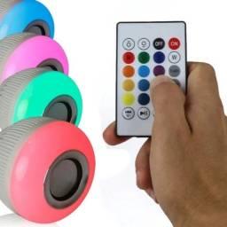 Lâmpada Led Musical Bluetooth Rgb C/ Controle + Alto Falant<br>