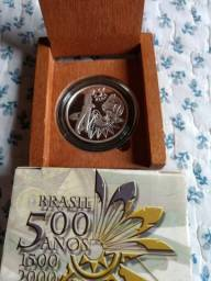 Estojo c/ Moeda Prata 500 do Brasil
