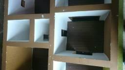 Maquetes de construção para estudo