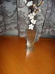 Vaso de vidro decorativo R$110,00