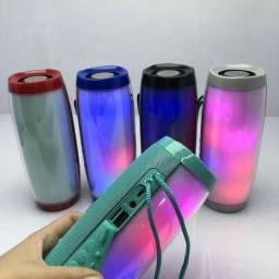 COD: 0185 Caixa De Som Bluetooth Com Led Colorido Tg-157 (entrega gratis)