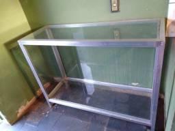 Bancada/vitrine/caixa de vidro