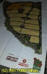 Lotes de 525m² a 912,57m², em até 240X. Condominio Maravilhoso, Jardins Itália (Ref.02)