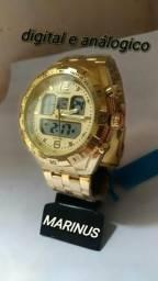 6c60000dbae Relógio marinus digital e analógico com luz noturna novo na caixa