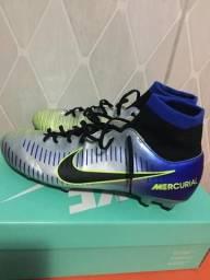 Chuteira Campo Nike Mercurial Victory 6 DF Neymar Jr FG - Azul e Preto