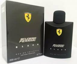Perfume Ferrari Black 200ml mega promoção