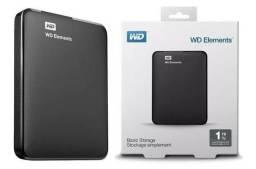 HD Externo 1TB Wd Elements Memória Expansível Notebook PC