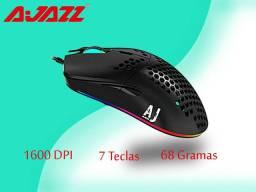Mouse Gamer Ajazz aj390 6 cores led luz 16000 dpi ajustável 7 teclas