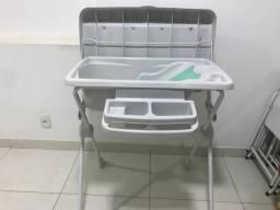 Banheira de banho bebê com trocador, suporte,assento e redutor