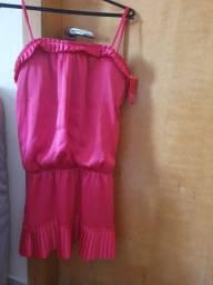 Vestido rosa pink