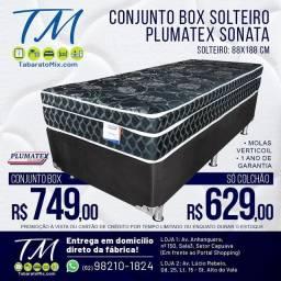 Conj. Solteiro Plumatex Sonata   Black 26CM  Molas Verticoil!