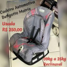 Cadeira Automotivo 25kg Reclinavel -  Seminovo Burigotto