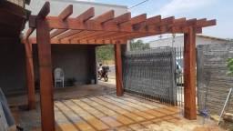 Instalação de pergolado de madeira